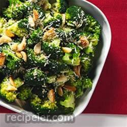 Garlic Roasted Broccoli with Parmesan Cheese