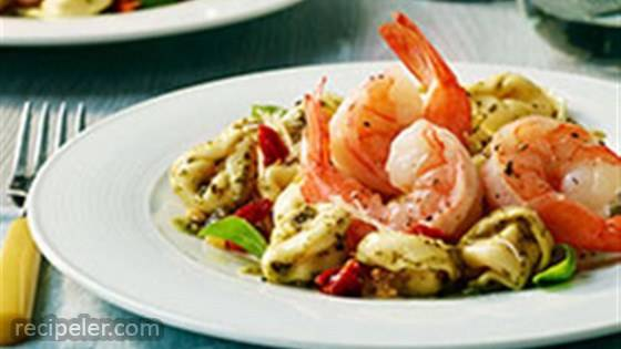 Garlic Shrimp with Three Cheese Tortellini