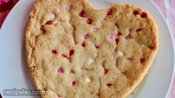 Giant Heart-Shaped Pan Cookie