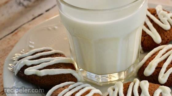 Ginger Cookies with Orange Glaze