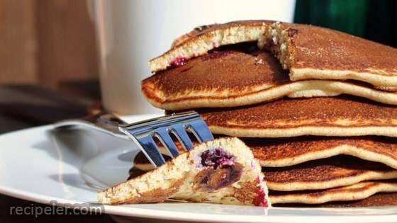 Gluten-Free Blueberry Banana Buckwheat Pancakes