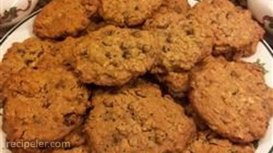 Gluten-Free Egg-free Oatmeal Chocolate Chip and Raisin Cookies