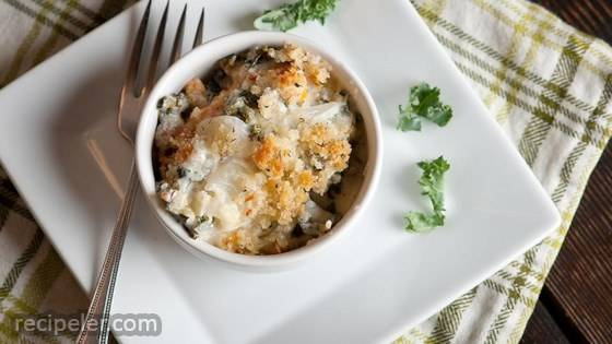Gluten-Free Kale and Butternut Squash Gratin