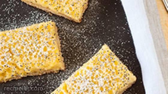 Gluten Free Lemon Coconut Poppy Seed Bars
