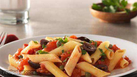Gluten Free Penne with Puttanesca Sauce