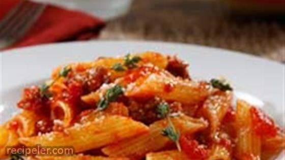 Gluten Free Penne with Spicy talian Sausage Ragout