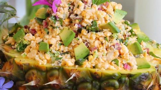 gluten-free pineapple-cauliflower fried rice