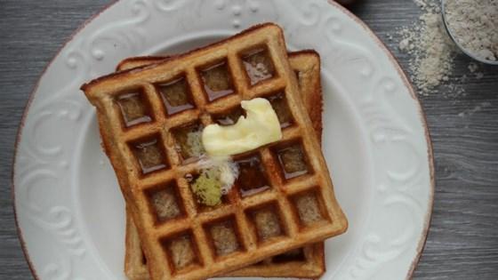 gluten-free sourdough chestnut waffles