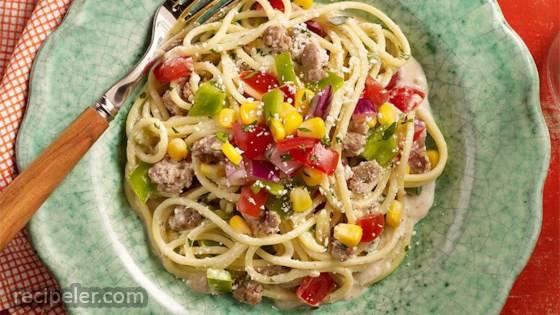 Gluten Free South of the Border Spaghetti