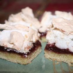 Grammie's Raspberry Meringue Cookie Bars