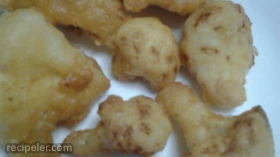 Grandma Nickie's Deep Fried Cauliflower