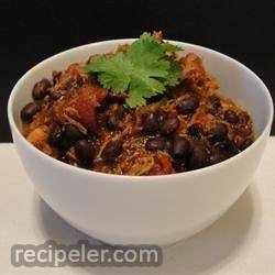 Grandma's Chicken and Black Bean Chili