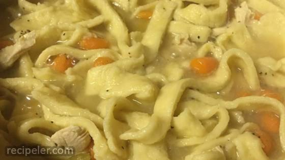 Grandma's Chicken Soup with Homemade Noodles