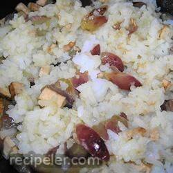 Grapes and Rice Stir Fry