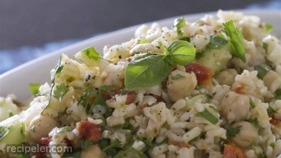 Greek Brown Rice Salad
