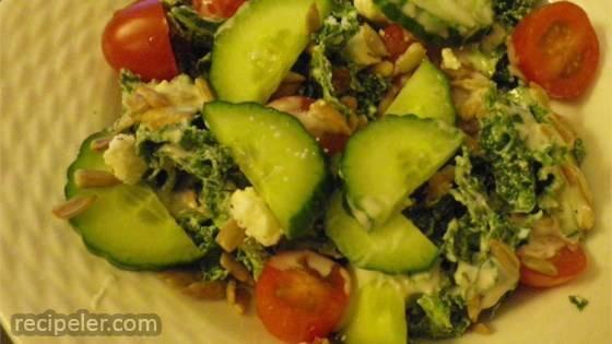 Greek Kale Tomato Salad