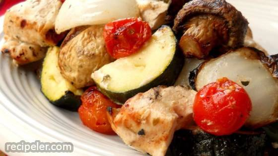 Greek sland Chicken Shish Kebabs