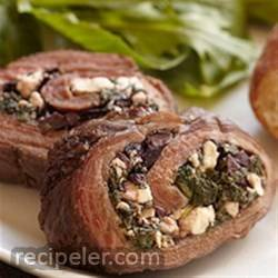 Greek Stuffed Bison Steak