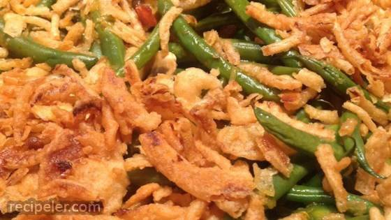 Green Bean and Canadian Bacon Casserole