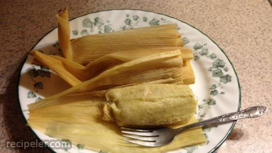 Green Chicken Tamales