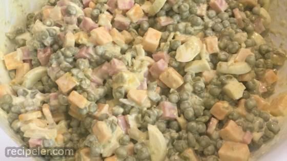 Green Pea and Ham Salad