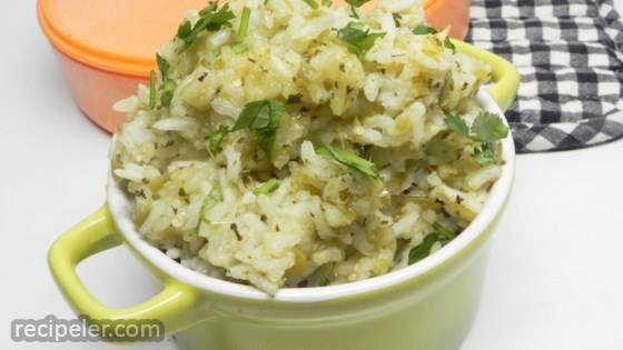 Green Rice With Green Chiles