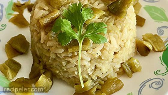 Green Rice with Poblano Chiles