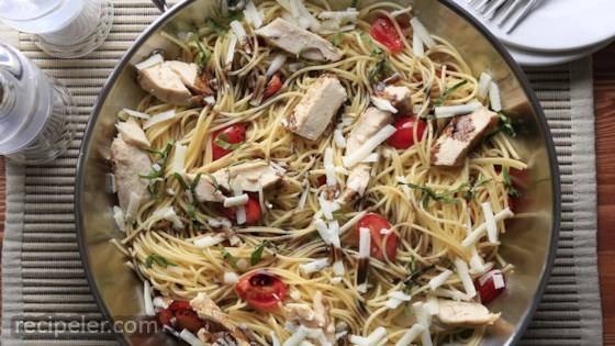 Greg's Easy Spaghetti with Balsamic Chicken