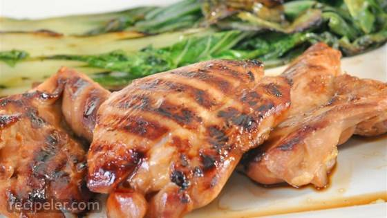 Grilled Asian Chicken with Bok Choy