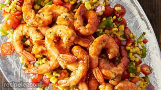 Grilled BBQ Shrimp with Citrus Corn Salad