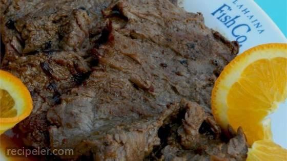 Grilled Blood Orange Chuck Steak