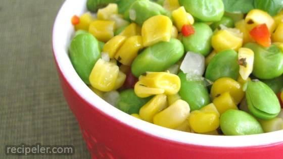 Grilled Corn and Edamame Succotash Salad