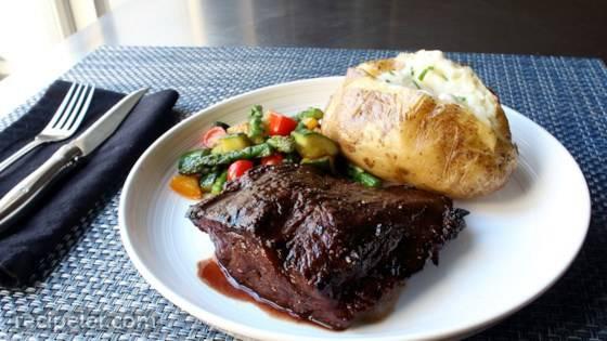 Grilled Flat ron Steak