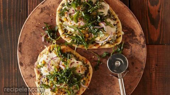 Grilled Flatbread Pizzas with Avocado Pesto