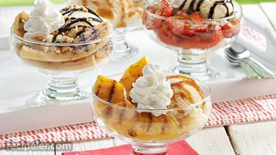 Grilled Fruit ce Cream Sundaes