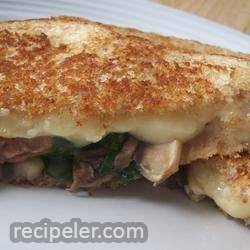 Grilled Mushroom and Swiss
