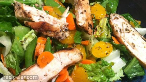 grilled orange vinaigrette chicken salad