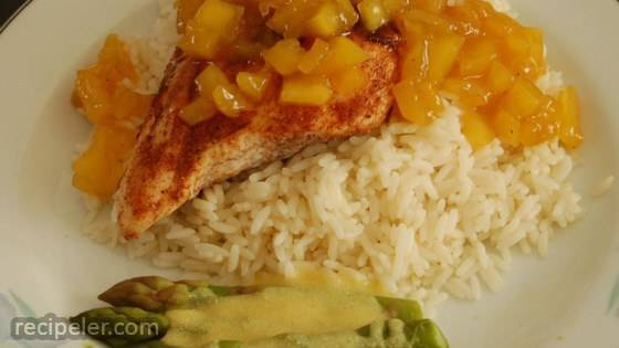 Grilled Spiced Chicken with Caribbean Citrus-Mango Sauce