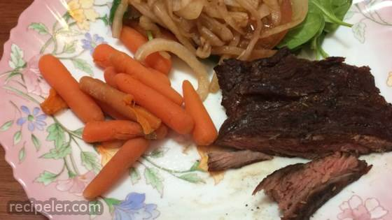 Grilled Stout Skirt Steak