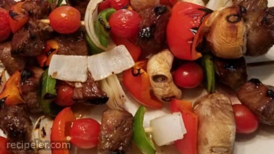 Grilled Teriyaki Sirloin Steak Kabobs