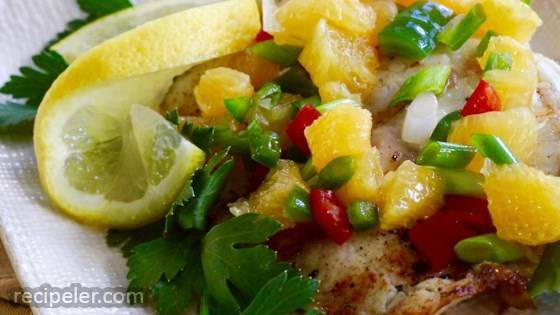 Grilled Tilapia with Orange Salsa