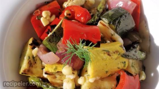 Grilled Vegetable Salad with Fresh Herb Vinaigrette