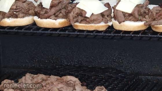 Grilled Venison Scape Sandwich