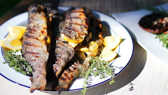 grilled whole stuffed trout