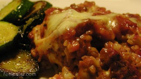 Ground Beef And Rice With Cheese