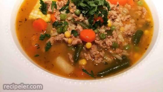 Ground Turkey and Red Potato Veggie Soup