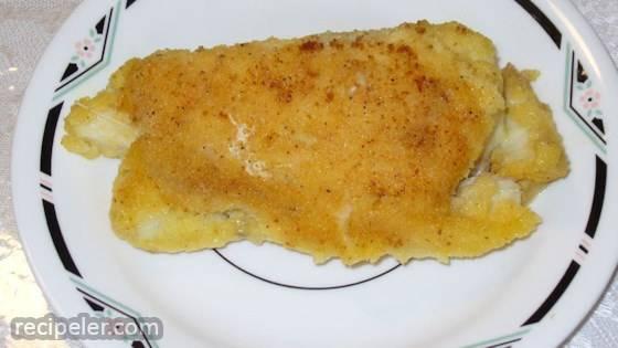 Halibut with Garlic Sauce