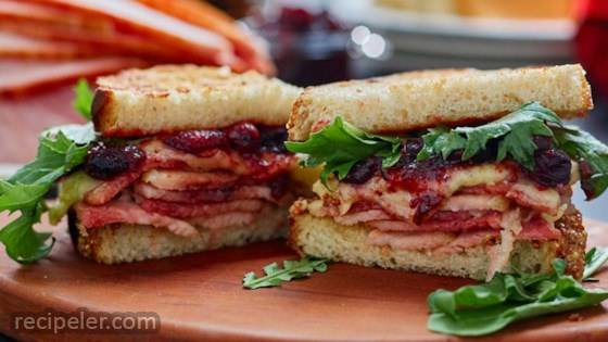 Ham and Cheddar Cranberry Melt