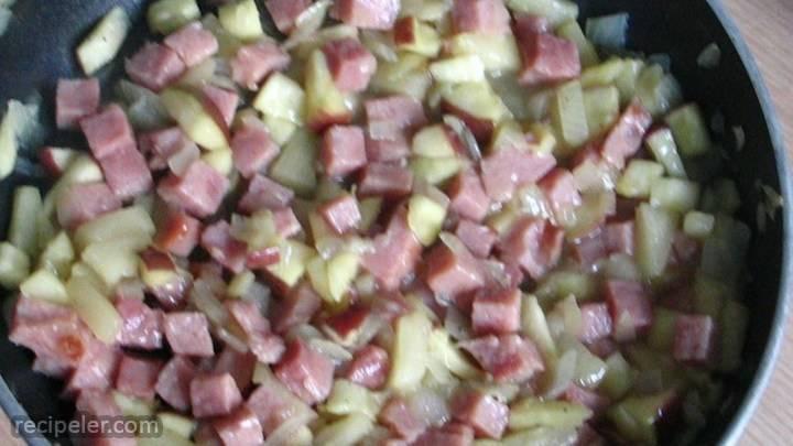 ham and fruit stir-fry