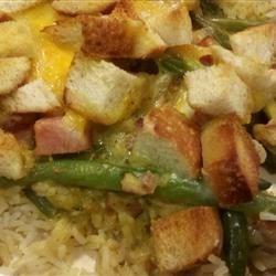ham and green bean casserole